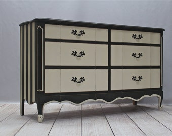 SOLD - Black/White Dresser - SOLD