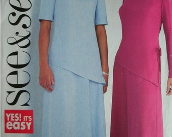 Misses Misses Petite Top and Skirt Size 14-16-18 See & Sew by Butterick Pattern B4324 - Rated EASY to Sew - UNCUT 2004