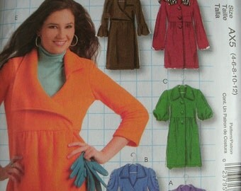 Misses Unlined Jackets and Coats Sizes 4-6-8-10-12 McCalls Design It Yourself Style pattern M5714 UNCUT Pattern 2008