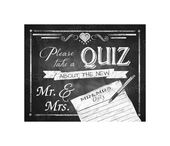 Take A QUIZ About The New MR & MRS Digital Download Printable