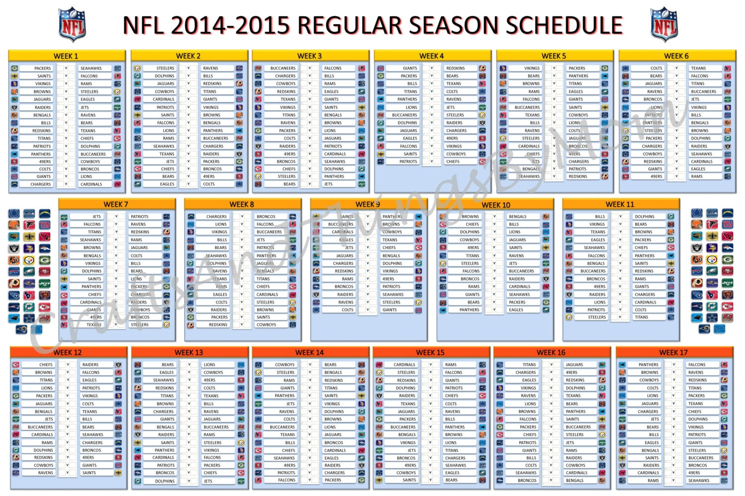It is a picture of Dynamic Printable Nfl Team Schedules