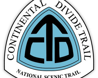 """Continental Divide Trail National Scenic Trail sticker decal 4"""" x 4"""""""