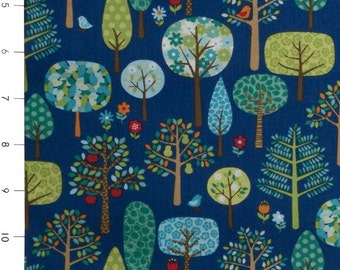 Jolly Farm Trees on Blue by Andover