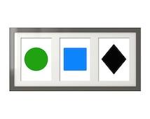 Simple Ski Signs - Green Circle, Blue Square, Black Diamond