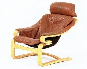 Danish 70's Leather Lounge Chair