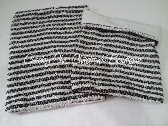 CLEARANCE - LINED 8x7 inch ZEBRA Crochet Tutu Dress Tube Top [LCB8ZEB]