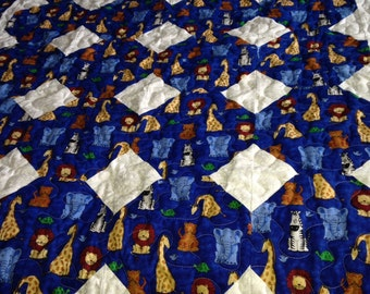 Noah's Ark Baby Quilt #232 size 44 X 54