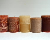 Warm and Glowing Hand Crafted Scented Pillar Candles - Strong Scent Throw - 16 oz  Earthy Pillar Candle With Rustic Handmade Charm