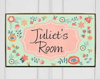 Kids room door sign for kid's door. Baby nursery decor, nursery room door sign. Personalized baby door sign. Kid's door plaque. Baby's room