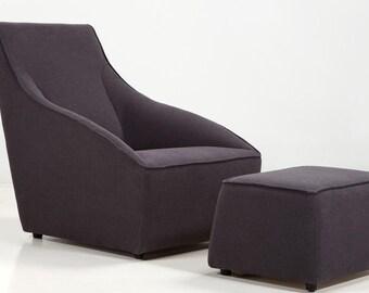 Modern arm chair contemporary Modern accent chair. High Quality All made here in the USA! Unique modern club chair lounge chair + ottman