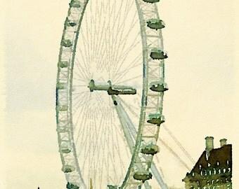 Instant download The London Eye 1 printable art