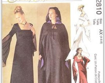 McCall's 2810 Misses' Evening Gown and Cape Pattern, 4-8