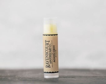 "Vegan Lip Balm  ""Agnes Grey"" - Scented with Bergamot"