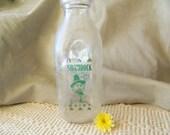 Vintage Shamrock Dairy Glass Bottle, Vintage Glass Bottles, Vintage Milk Bottles, Vintage Dairy, Vintage Dairy Bottles, Shamrock Dairy