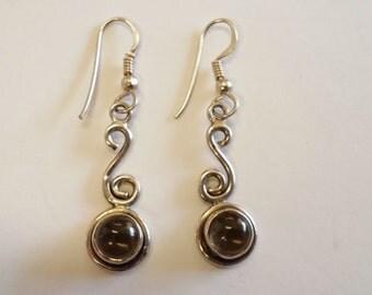 Beautiful Sterling Silver Crystal Dangle Earrings
