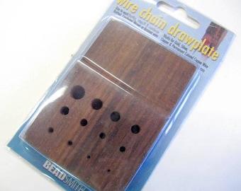 Drawplate, Viking Weave, Rosewood, Pull Weaved Chain, Viking Knit Tool, Viking Weave Tool, Wooden, Secure Handle