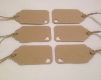 20 Handmade Vintage Style Gift Tags/Wedding Favour Tags 9cm x 4.5cm