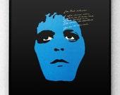 Lou Reed Blue Mask Poster Art Print Modernist Abstract Punk Silhouette Street Berlin Velvet Underground Warhol Basquiat