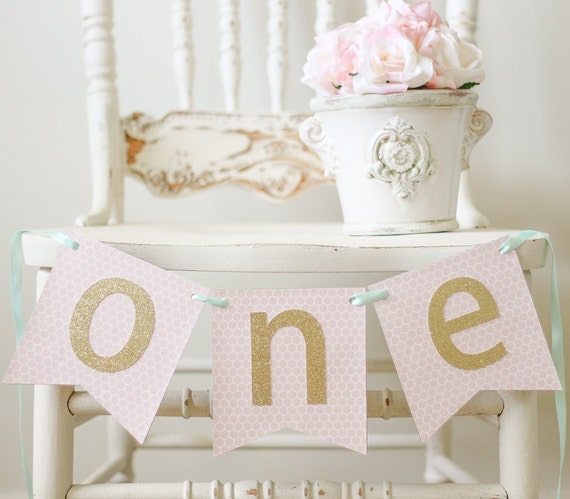 One Banner Highchair Banner I Am One Banner By