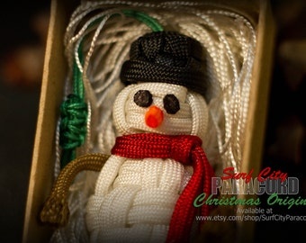 Handmade Paracord Snowman Christmas Ornament