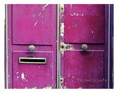 "Paris Photography, ""Paris Radiant Orchid Door"", Color Photography, Urban Wall Decor, Modern, French Home Decor, Travel, Europe, Paris - ThreeColors"
