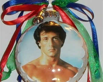 Rocky inspired Tribute Christmas Ornament