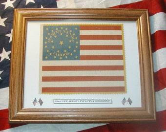 American Flag, 34 star Flag, Civil War flag....23rd New Jersey Flag