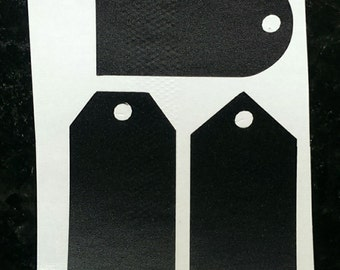 Set of 3 Gift Tag Shaped Chalkboard Labels