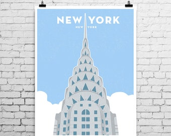 Chrysler Building, New York City, Art Print