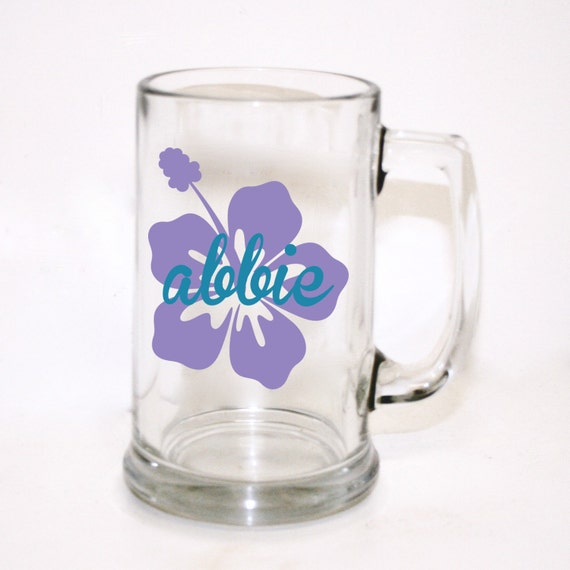 Wedding Gift Beer Mugs : Custom Flower Beer Mug, Custom Wedding Party Gift, Custom Beer Glass ...