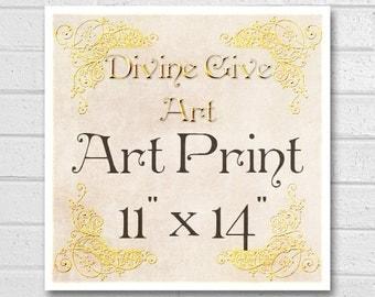Digital Art Print 11x14 - Printable wall decor, Art print, made to match all my designs
