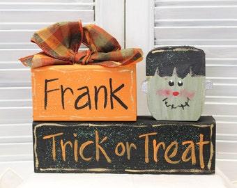 Halloween Frankenstein Block Set