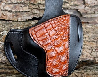 Custom Leather Holster for S/W M & P Crocodile