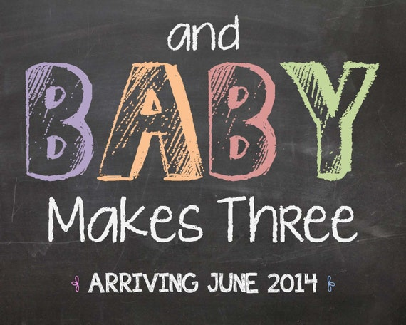Printable Chalkboard Pregnancy Announcement And Baby Makes