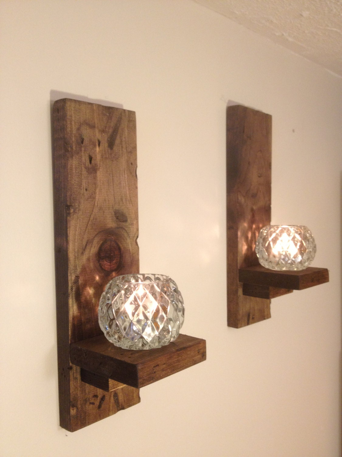 Wall Sconces Rustic pair