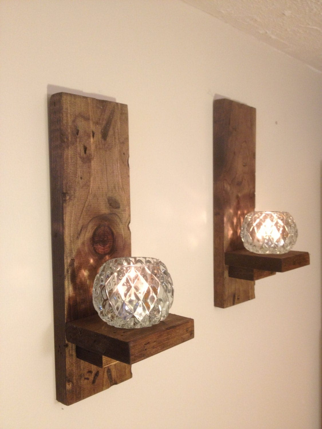 Wall Mounted Candle Lights : Wall Sconces Rustic pair