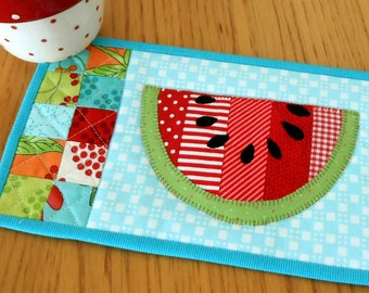 Summer Watermelon Mug Rug Pattern