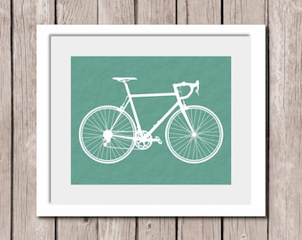 "INSTANT DOWNLOAD - Bike Printable Wall Art Print 8""x10"" Textured Background (jpeg file) Home Decor"