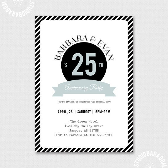 Items Similar To 25th Anniversary Invitation