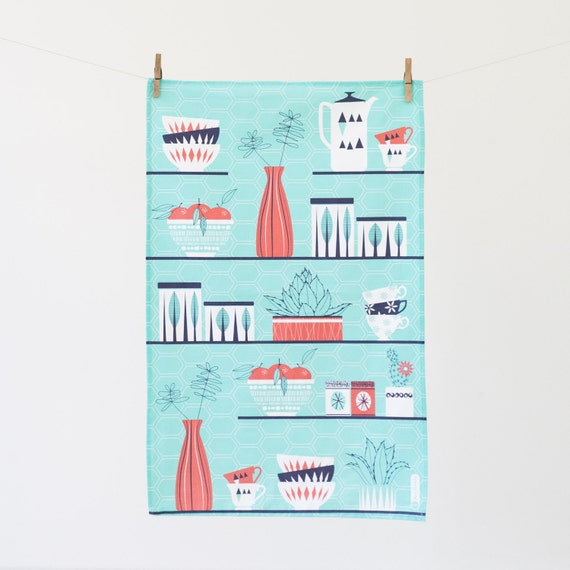 Retro Cactus Tea Towel