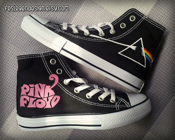 pink floyd dsom custom converse painted by feslegendesign