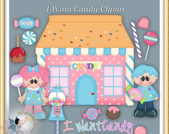 I Want Candy Clipart