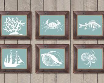 Seafoam bathroom etsy for Sea green bathroom accessories
