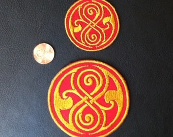 Doctor Who Seal of Rassilon Embroidered Patch