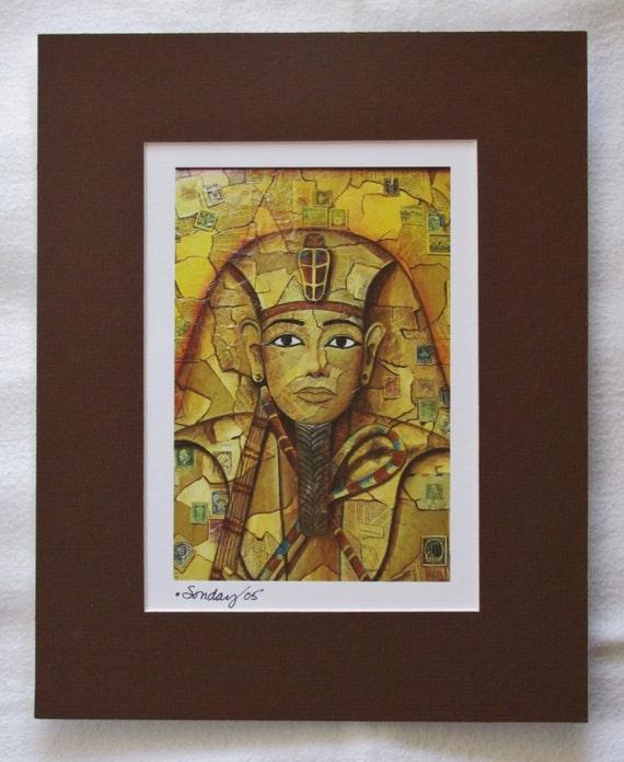 Fine Art Matted Print King Tut By Joseph Sonday