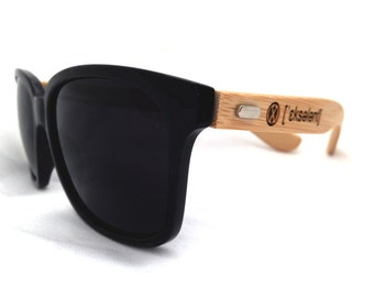 Natural Wood Bamboo - Sunglasses - XCELLENT CLOTHING
