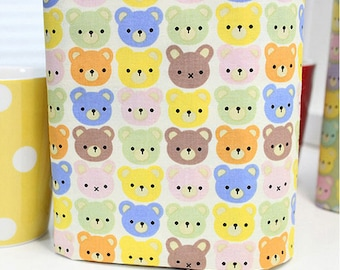 Cotton Fabric Bear By The Yard