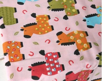 Cotton Fabric Pony Pink By The Yard