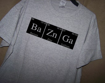 Big Bang Theory BAZINGA Periodic Table T Shirt