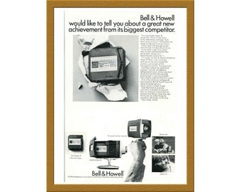 "1965 Bell and Howell Super 8 Camera B&W Print AD / Kodachrome Super 8 movie film / 6"" x 9"" / Original Advertisement / Buy 2 ads Get 1 FREE"